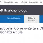 Microsoft Teams – Best Practice in Corona-Zeiten: DRAIS Gemeinschaftsschule etabliert digitales Lernen während der Corona-Krise